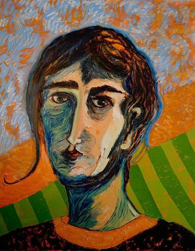 Musician Oil on Canvas Valerie Kullack Visual Artist Bangalow Australia