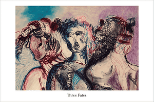 Three Fates Limited Edition Art Print by Australian Visual Artist Valerie Kullack Northern Rivers NSW Australia