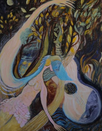 Alchemy -Painting- oil on canvas for sale - Valerie Kullack-Northern Rivers Australia