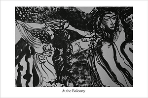 At the Balcony Limited Edition Art Print by Australian visual artist Valerie Kullack Northern Rivers NSW Australia