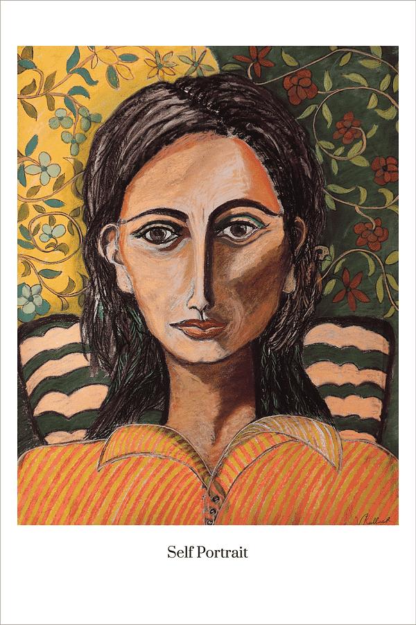 Self Portrait art print by Australian Visual Artist Valerie Kullack Bangalow Australia