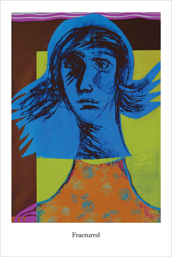 Fractured art print by Australian Visual Artist Valerie Kullack Bangalow Australia