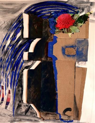 Flower Gouache and Collage Valerie Kullack Visual Artist Bangalow Australia