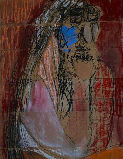 Despair Pastel Valerie Kullack Visual Artist Bangalow Australia