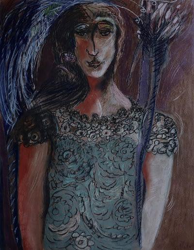 Waiting in the Wings Pastel Valerie Kullack Visual Artist Bangalow Australia