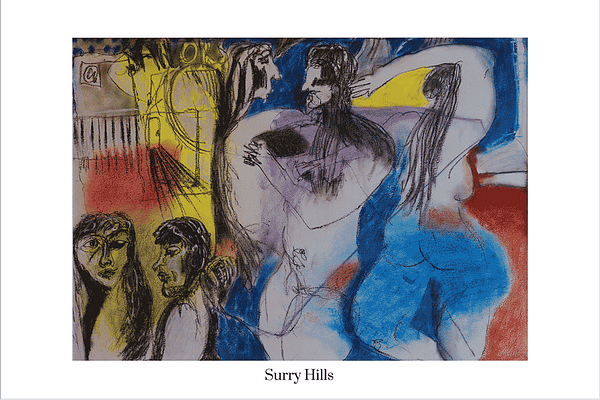 Surry Hills Limited Edition Art Print by Australian visual artist Valerie Kullack