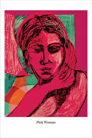 Pink Woman art print by Australian Visual Artist Valerie Kullack Bangalow Australia