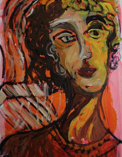 Valerie Kullack- Australian Visual Artist- Northern Rivers- Drawing- Acrylic paint on paper- portrait