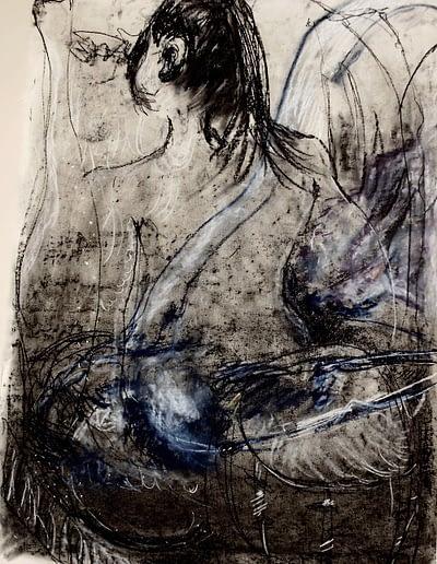Subconscious Woman Pastel Valerie Kullack Visual Artist Bangalow Australia