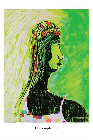 contemplation art print by Australian Visual Artist Valerie Kullack Bangalow Australia