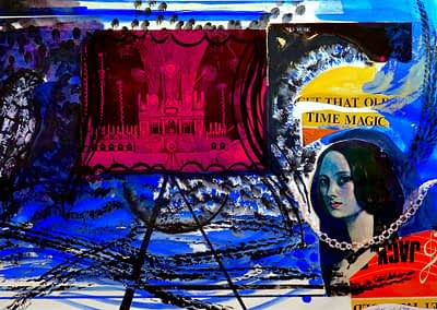 Time Collage Pastel and Gouache Valerie Kullack Visual Artist Bangalow Australia