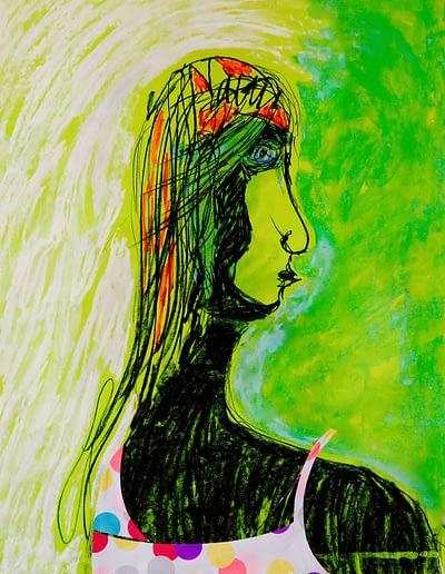 Contemplation Pastel and CollageValerie Kullack Visual Artist Bangalow Australia