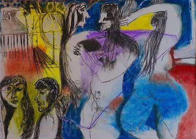 Surry Hills Charcoal and Pastel Valerie Kullack Visual Artist Bangalow Australia