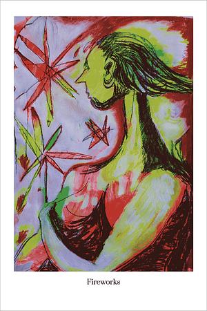 Fireworks art print by Australian Visual Artist Valerie Kullack Bangalow Australia