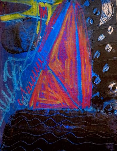 Sailing at Night Pastel Valerie Kullack Visual Artist Bangalow Australia