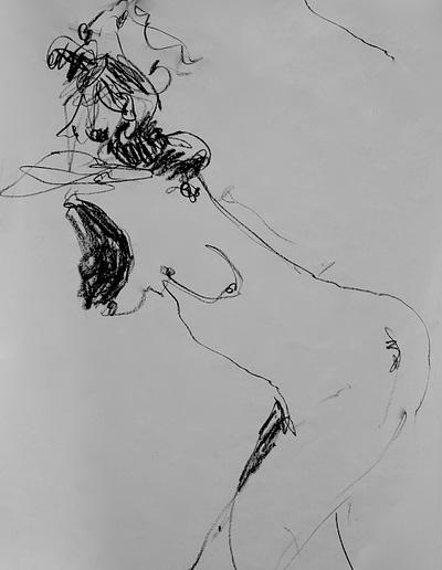 Nude Pastel Valerie Kullack Visual Artist Bangalow Australia