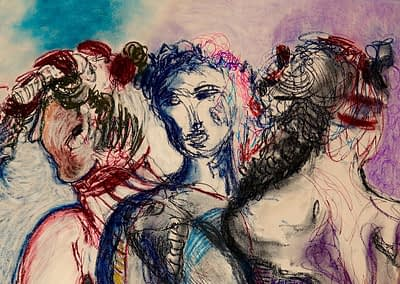 Three Fates Pastel Valerie Kullack Visual Artist Bangalow Australia
