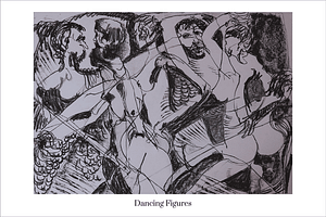 Dancing Figures Limited Edition Art Print by Australian Visual Artist Valerie Kullack