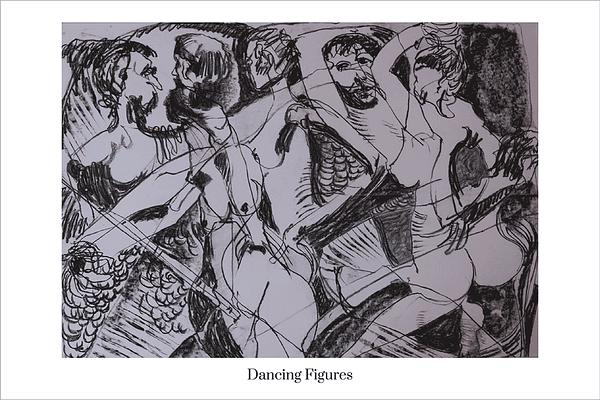 Dancing Figures Limited Edition Art Print by Australian Visual Artist Valerie Kullack
