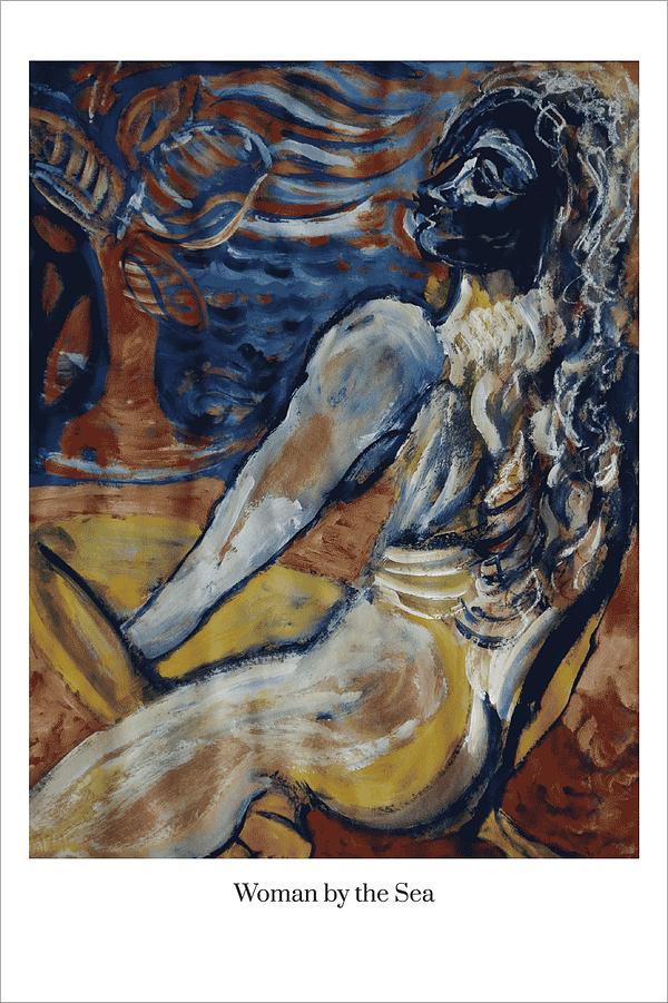 Woman by the Sea art print by Australian Visual Artist Valerie Kullack Bangalow Australia. Shop art prints