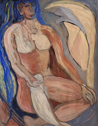 Nude Woman Gouache and Pastel Valerie Kullack Visual Artist Bangalow Australia