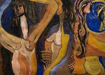 Dance Gouache and Charcoal on Paper Valerie Kullack Visual Artist Bangalow Australia